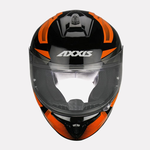 AXXIS Draken Ronin Helmet orange front view