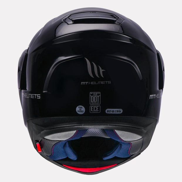 MT Atom SV Solid Modular Helmet back view