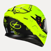 MT Thunder Board helmet fluorescent yellow side view