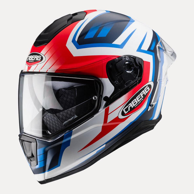CABERG Drift Evo Gama helmet Red Blue side view