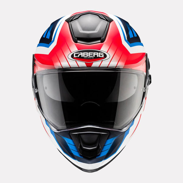 CABERG Drift Evo Gama helmet Red Blue front view