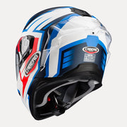 CABERG Drift Evo Gama helmet Red Blue back view