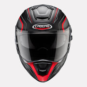 CABERG Drift Evo Integra Helmet black and red front view