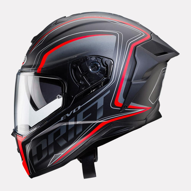 CABERG Drift Evo Integra Helmet black and red side view