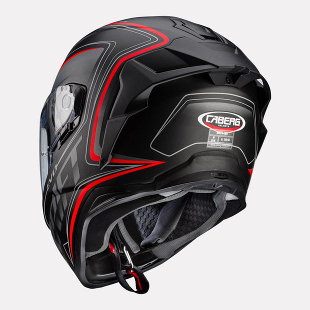 CABERG Drift Evo Integra Helmet black and red back view