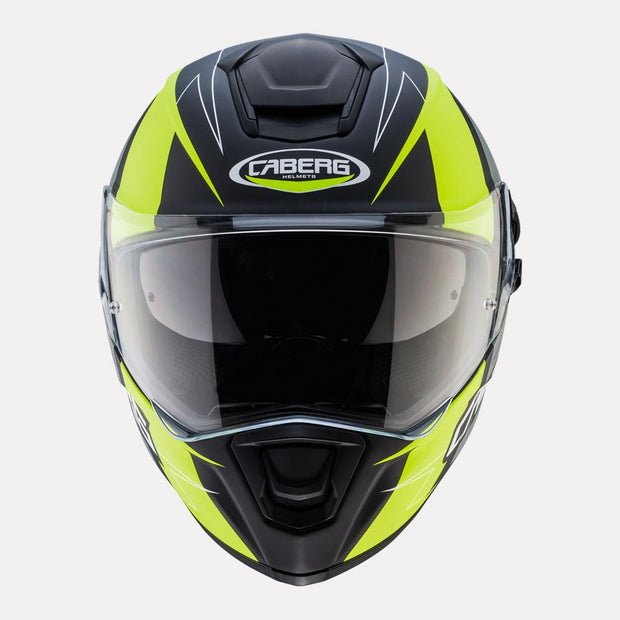 CABERG Drift Evo Speedster Helmet fluorescent yellow front view
