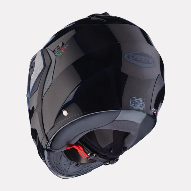 CABERG Duke II Black Helmet back view