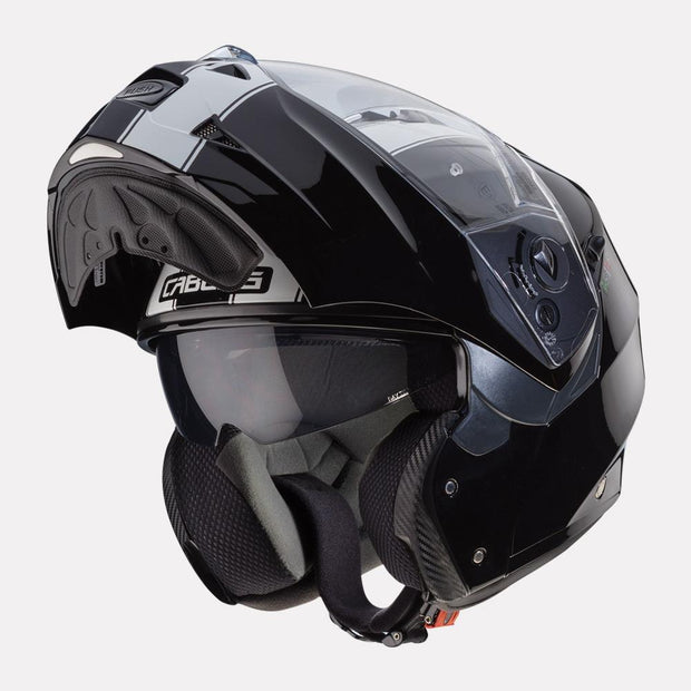 CABERG Duke II Legend motorcycle helmet Black White modular view