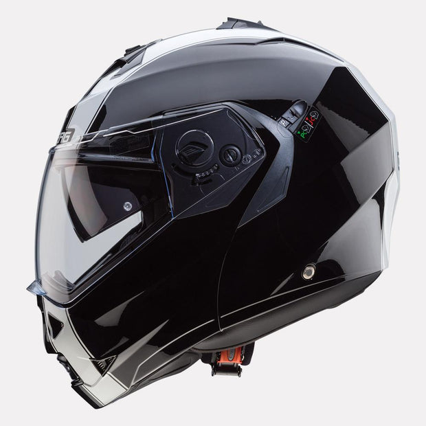 CABERG Duke II Legend motorcycle helmet Black White side view