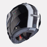 CABERG Duke II Legend motorcycle helmet Black White back view