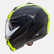 CABERG Duke II Legend motorcycle helmet fluorescent yellow side view