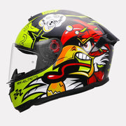 MT Stinger Braap Black helmet side view