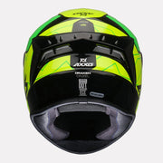 Axxis Draken Cinzel Gloss Helmet Green back view