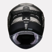 Axxis Draken Cinzel Matt Helmet Grey back view