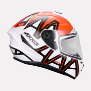 AXXIS Draken Dekers Gloss Helmet orange side view