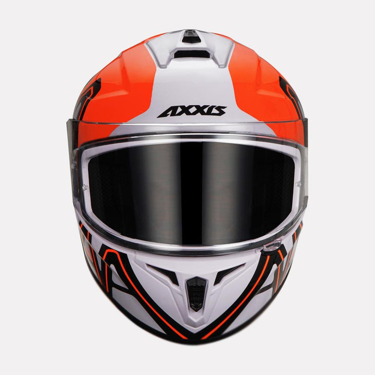 AXXIS Draken Dekers Gloss Helmet orange front view