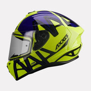 AXXIS Draken Dekers Gloss Helmet Fluorescent Yellow side view