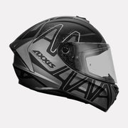 AXXIS Draken Dekers Matt Helmet grey side view
