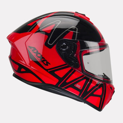 AXXIS Draken Dekers Gloss Red Helmet
