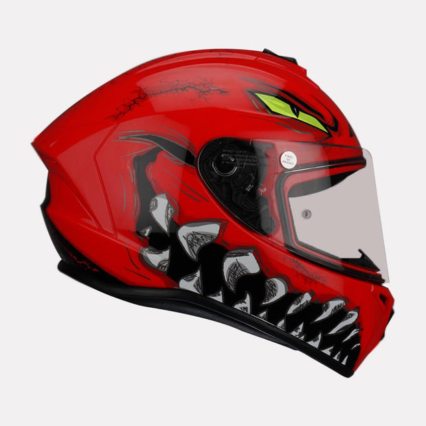 AXXIS Draken Forza Gloss Helmet red side view