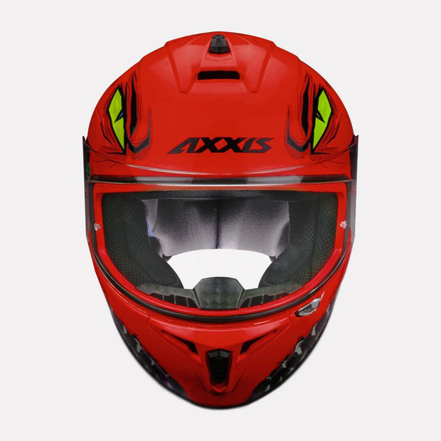 AXXIS Draken Forza Gloss Helmet red front view