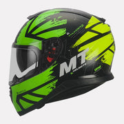 MT Thunder3 SV Kuffner Helmet fluorescent yellow side view