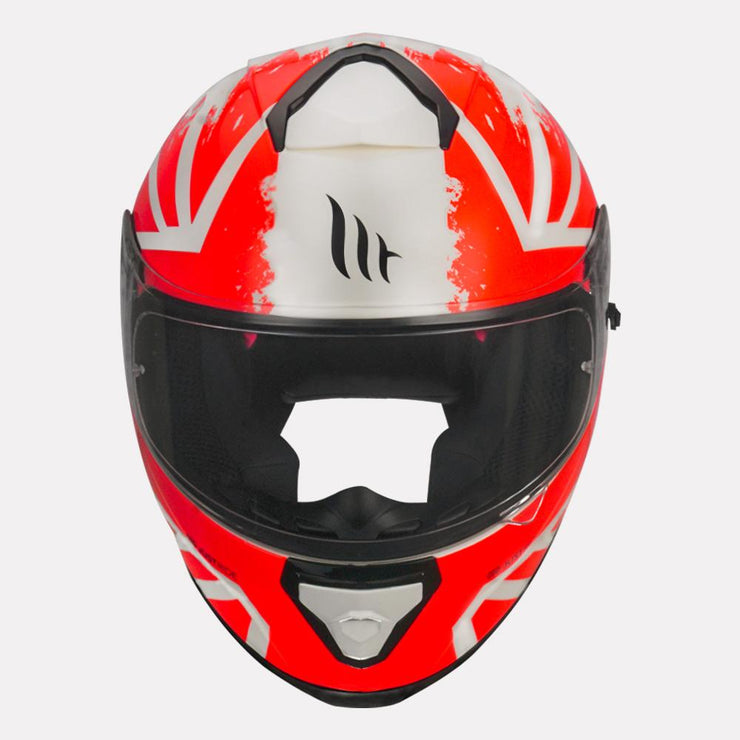 MT Thunder3 SV Kuffner Helmet fluorescent orange front view