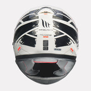 MT Thunder3 SV Kuffner Helmet fluorescent orange back view