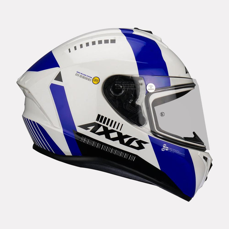 AXXIS Draken MP4 Gloss Helmet Blue side view