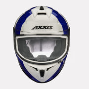 AXXIS Draken MP4 Gloss Helmet Blue front view
