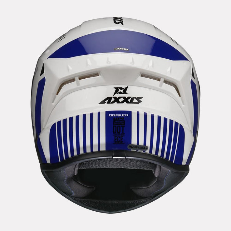 AXXIS Draken MP4 Gloss Helmet Blue back view