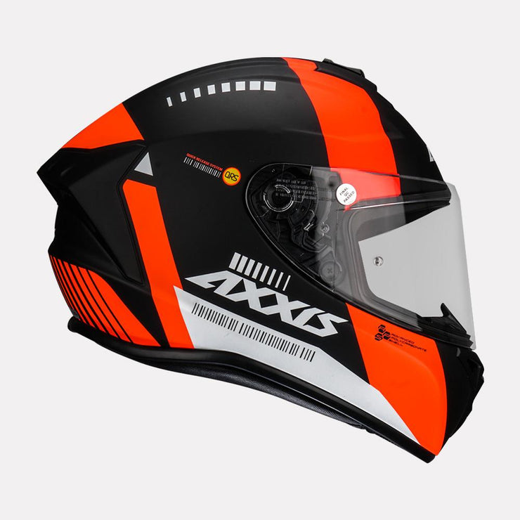 AXXIS Draken MP4 matt Helmet orange side view