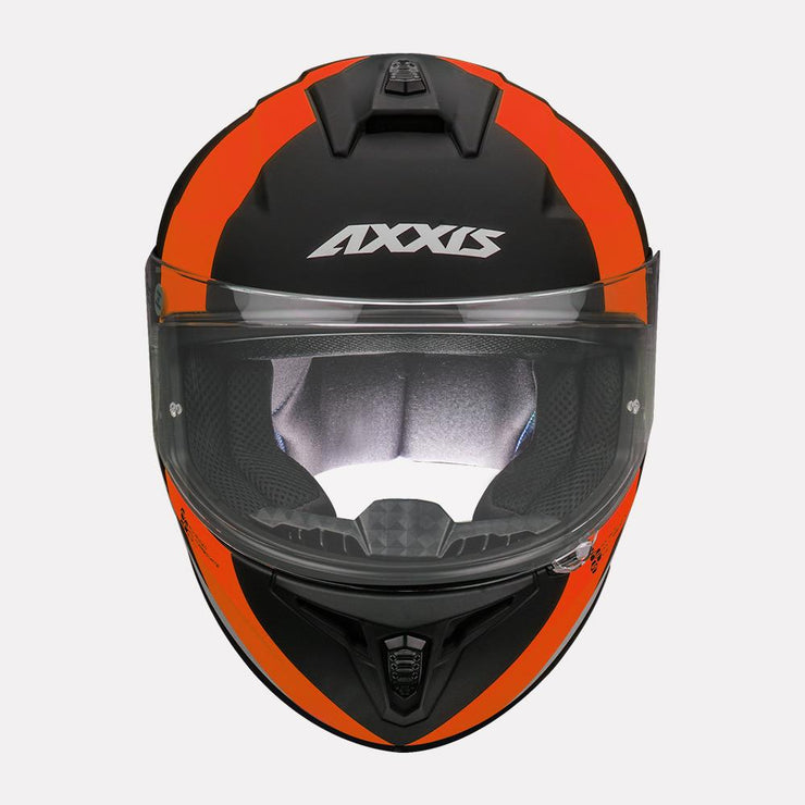 AXXIS Draken MP4 matt Helmet orange front view
