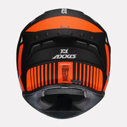 AXXIS Draken MP4 matt Helmet orange back view