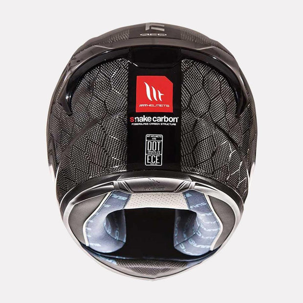 MT Snake carbon motorcycle helmet back