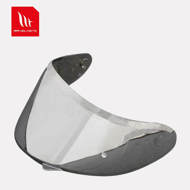 MT - V14  Pin-lock ready silver iridium Visor