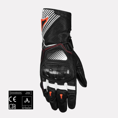 MACNA AIRPACK Full Gauntlet Leather Gloves (White & Orange)