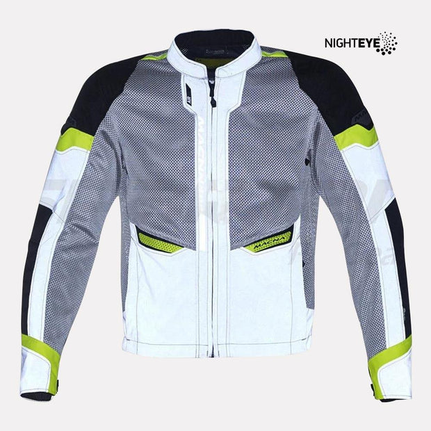 Macna Event Riding Jacket night eye front