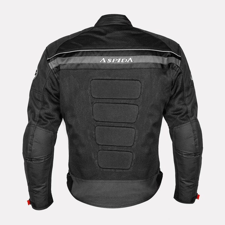 ASPIDA Prime Series Nemesis 2 L 2 Mesh Jacket grey back