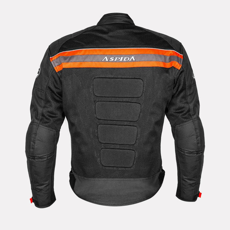 ASPIDA Prime Series Nemesis 2 L 2 Mesh Jacket orange back