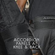 ASPIDA Odysseus All Season Touring Pants accordian panel