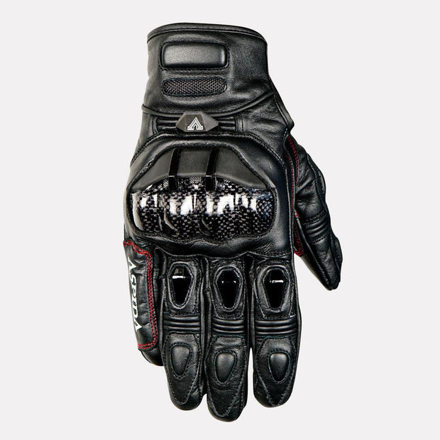 ASPIDA Pegasus Short Cuff Leather Gloves front