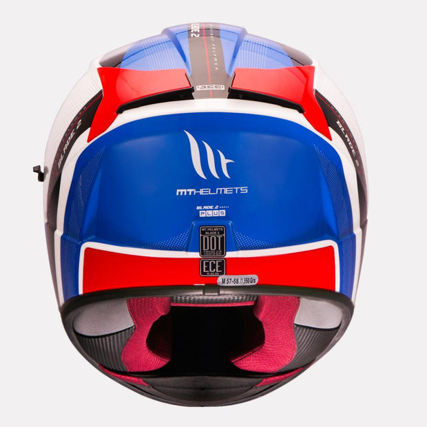 MT Blade 2SV Plus Helmet back view