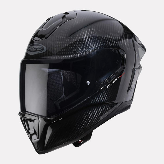 CABERG Drift Evo Carbon Pro helmet black front view