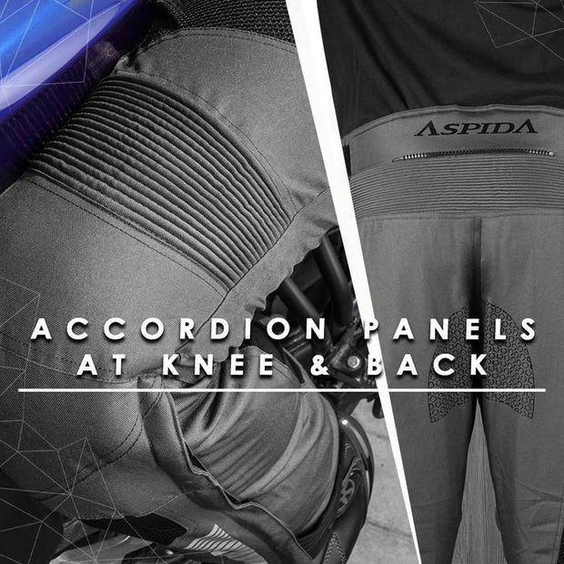 ASPIDA Proteus II Airmesh Sports Pants accordian panels