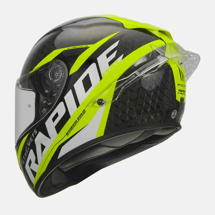 MT Rapide Pro Carbon Helmet fluorescent yellow side view