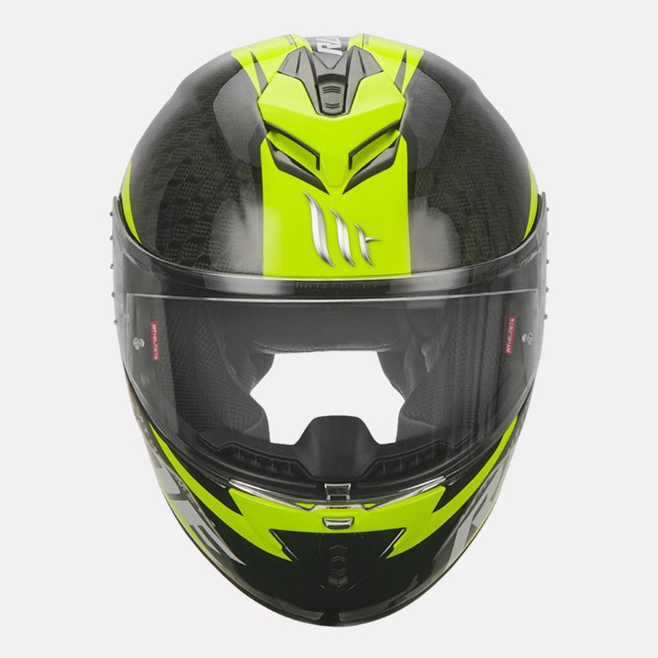 MT Rapide Pro Carbon Helmet fluorescent yellow front view