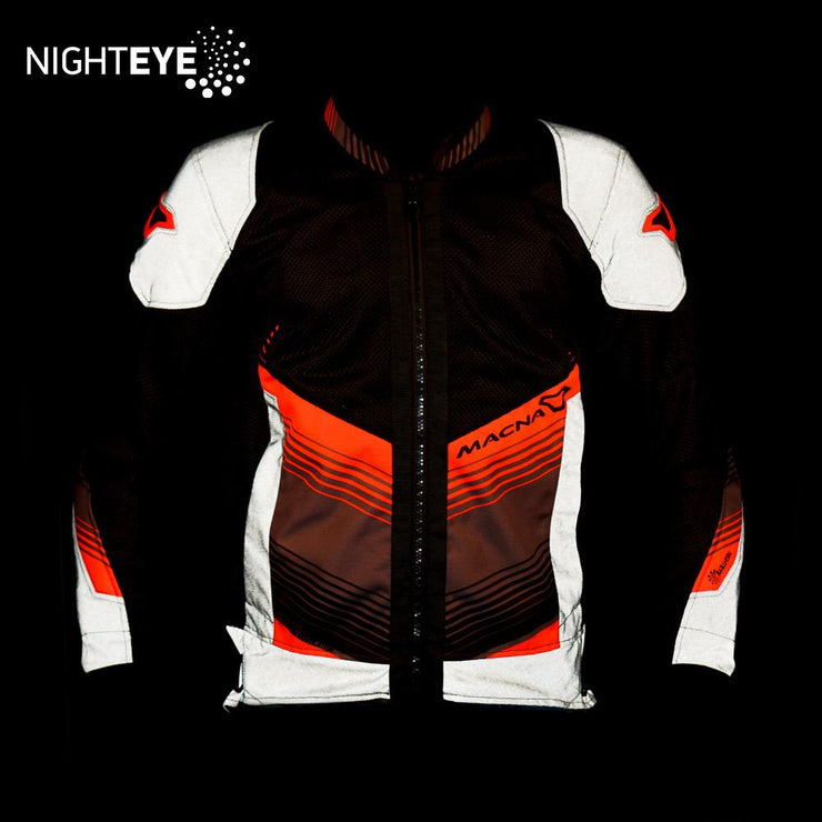 MACNA Rewind Mesh Jacket Black Orange front night eye