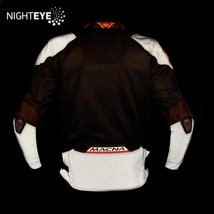 MACNA Rewind Mesh Jacket Black Orange back night eye