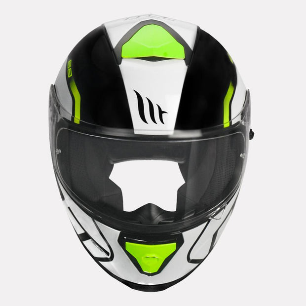 MT Thunder3 SV Rikos Helmet fluorescent yellow front view